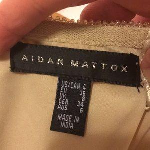 Aidan Mattox Dresses - Gold sequined mini dress